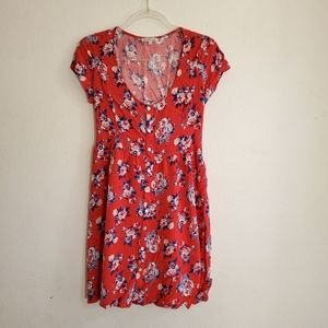 Charlotte Russe red floral dress size L